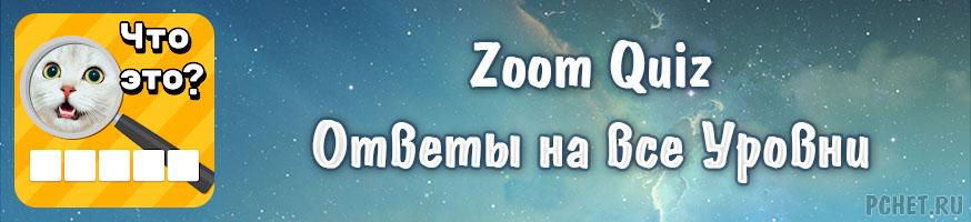 Ответы на игру Zoom Quiz
